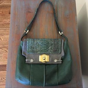 Chloe Shoulder Bag, Leather/Python